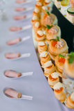 Rolls with red caviar Royalty Free Stock Photo