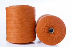 Rolls of red polyester rope Royalty Free Stock Photography