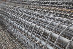 Rolls of Reinforcement Wire. Rolls or bundles of mesh reinforcement wire used in construction royalty free stock photography