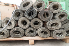 Rolls of roofing material Stock Photos