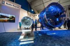 Rolls-Royce. An exhibition by Rolls-Royce of the latest Trent 1000 jet engine at the Farnborough Airshow, UK on July 12, 2012
