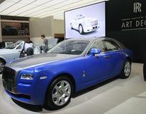 Rolls Royce blue car Stock Image