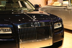 Rolls Royce Car at NY International Auto Show. Beautiful and pristine Rolls Royce cars on display at the NYC International Auto Show Royalty Free Stock Images