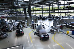 Rolls-Royce cars stand on production line in Goodwood factory Stock Photography