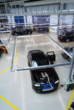 Rolls-Royce cars stand on production line in Goodwood factory Royalty Free Stock Images