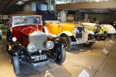 Rolls Royce classic cars collection. Some classic Rolls Royce cars inside car collection showroom stock image