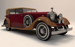 Rolls Royce Classic Luxury. High quality rendering of a classic, extremely luxury Rolls Royce automobile. Accurate scale, parts, paint and material Royalty Free Stock Photography