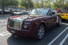 Rolls-Royce convertible on display Stock Photography