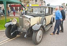 Rolls Royce crème et noire Images libres de droits