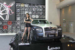 Rolls-Royce display Thailand International Motor Expo 2013 Royalty Free Stock Images