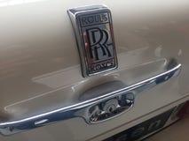 Rolls Royce emblem royaltyfri bild