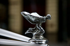 Rolls Royce emblem on car Royalty Free Stock Photography