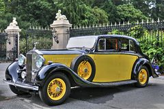 1934 Rolls Royce fantom II W kolorze żółtym Fotografia Royalty Free