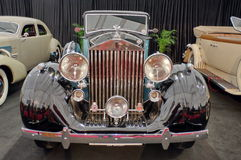 Vintage luxury car: Rolls Royce at the exhibition (front view) Stock Image