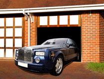 Rolls royce in garage Royalty Free Stock Photography