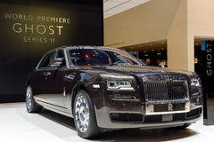 Rolls Royce at the 2014 Geneva Motorshow. The new Rolls Royce Ghost at the 2014 Geneva Motorshow Royalty Free Stock Photography