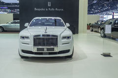 Rolls-Royce Ghost Extended Wheelbase คชมงคล showed i Royalty Free Stock Photo