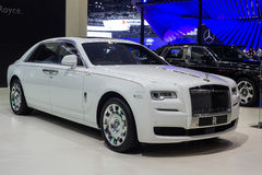 Rolls-Royce Ghost Extended Wheelbase คชมงคล showed i Royalty Free Stock Images