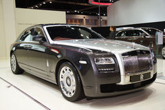 The Rolls-Royce Ghost Standard Wheelbase The Majestic Horse. BANGKOK, THAILAND - MARCH 30 :The Rolls-Royce Ghost Standard Wheelbase The Majestic Horse is on Stock Image