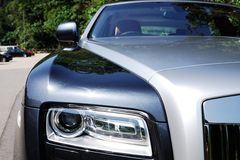 Rolls-Royce head light Royalty Free Stock Images