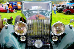Rolls Royce 20/25. Hope, Derbyshire, UK. August 28, 2017. The front of a Vintage classic 1936 Rolls Royce 20/ 25 on display at the Hope country show in stock photo