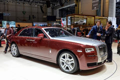 Rolls Royce im Genf 2014 Motorshow Lizenzfreie Stockbilder