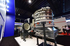 Rolls Royce LiftSystem and F-135 engine model on display at Singapore Airshow Stock Image