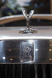 Rolls-Royce logo and statuette Royalty Free Stock Photography