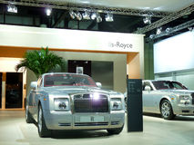 Rolls Royce Luxury Cars. DUBAI, UAE - DECEMBER 19: Rolls Royce Luxury cars on display during Dubai Motor Show 2009 at Dubai Int'l Convention and Exhibition Stock Photography