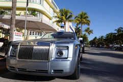 Rolls Royce in Miami Stock Image