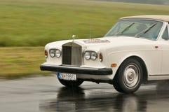 Rolls Royce in motie Royalty-vrije Stock Foto's