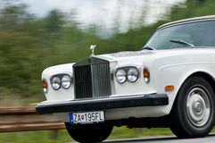 Rolls-Royce in motion Stock Photography