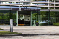 Rolls-Royce Motor Cars entrance hall at the Goodwood car factory Royalty Free Stock Photo