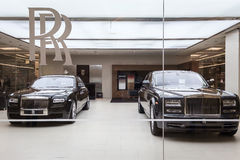 Rolls Royce motoriska bilar Arkivbilder