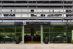 Rolls Royce Motorowych samochodów wejściowa sala przy Goodwood samochodu fabryką Zdjęcia Royalty Free