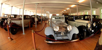 Rolls royce museum in Dornbirn. Rolls-Royce Museum is a museum dedicated to world-renowned luxury brand Rolls-Royce cars Royalty Free Stock Photography