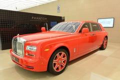 Rolls-Royce Phantom Extended Wheelbase at Geneva Motorshow 2016. Rolls-Royce ordered by Stephen Hung for Macau casino royalty free stock images