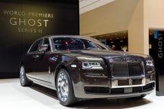 Rolls Royce på Genève 2014 Motorshow Royaltyfri Fotografi