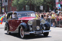 Rolls-Royce at the Parade Stock Images