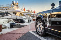 Rolls-Royce parked in Puerto Banus, Marbella Stock Photography