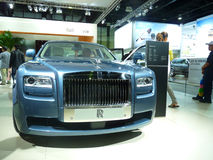Rolls Royce Phantom. Rolls Royce Phamtom on display during Dubai Motor Show 2009 at Dubai Int'l Convention and Exhibition Centre December 19, 2009 in Dubai Stock Photography