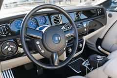 Rolls Royce Phantom Dashboard Arkivfoto