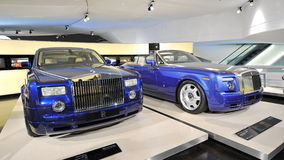 Rolls Royce Phantom and Drophead Coupe on display in BMW Museum Stock Photos