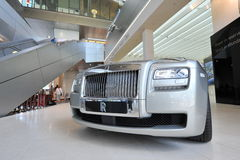 Rolls Royce Phantom Drophead Coupe on display in BMW Welt Royalty Free Stock Photo