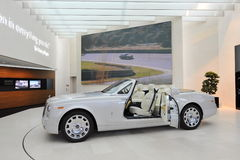 Rolls Royce Phantom Drophead Coupe on display in BMW Welt Royalty Free Stock Photos