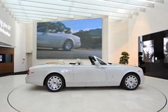 Rolls Royce Phantom Drophead Coupe on display in BMW Welt Stock Photo