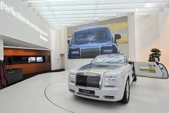 Rolls Royce Phantom Drophead Coupe on display in BMW Welt Stock Photos
