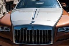 Rolls Royce Phantom i porto cervo Fotografering för Bildbyråer