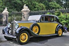 1934 Rolls Royce Phantom II nel giallo Fotografia Stock Libera da Diritti