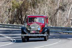 1925 Rolls Royce Phantom 1 Limosine. Adelaide, Australia - September 25, 2016: Vintage 1925 Rolls Royce Phantom 1 Limosine driving on country roads near the town Royalty Free Stock Images